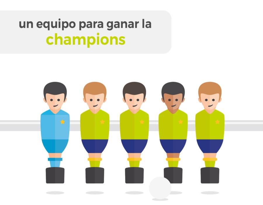 Un equipo para ganar la Champions